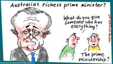 Malcolm Turnbull coup PM present give cartoon Australian Margin Call 2015-09-15