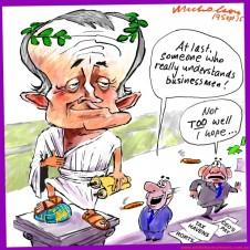 Malcolm Turnbull the PM for businessmen like cartoon business Australian 2015-09-19