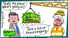 Damien Mantach loses house Kroger cartoon Australian Margin 2015-09-24