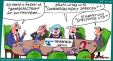 Transfield Services name change because of asylum seeker issues cartoon The Australian Margin 2015-09-25
