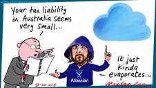 Cannon-Brookes Atlassian tax liability calculations Margin Call Australian business cartoon 2015-10-08