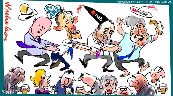 Westpac ups rates will others follow Margin Australian cartoon 2015-10-15