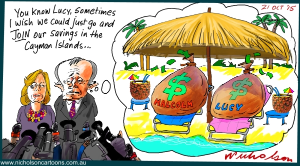 Malcolm and Lucy Turnbull Cayman Islands Australian Margin Call 2015-10-21