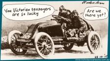 Victorian taxpayers foot large Grand Prix bill  Margin Call Australian cartoon 2015-10-23