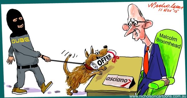 Asciano Qube Corrigan Broomhead  cartoon Margin Call 2015-11-11