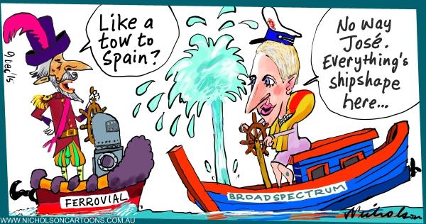 BROADSPECTRUM Ferrovial takeover no way Jose Margin Call Australian 2015-12-09