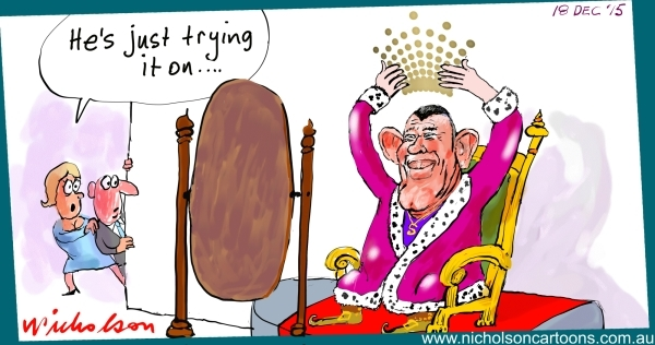 Packer tries on Crown Crown for size Margin Call Australian cartoon 2015-12-18