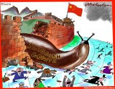 China sluggish growth hits world cartoon Austrlian business 2016-01-09