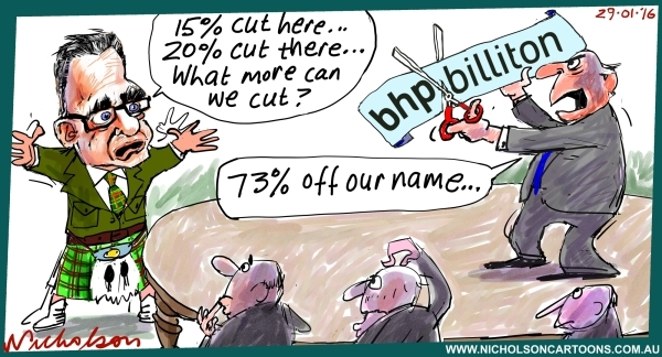 BHP may ditch Billiton name Margin Call cartoon 2016-01-29