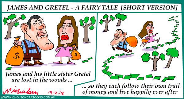 James and Gretel lost in woods 2016-02-19