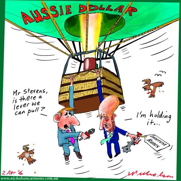 2016-04-02 Glenn Stevens balloon lever interest rates Business