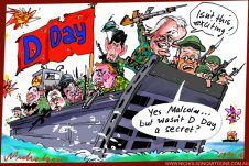 2016-04-19 D Day for Liberals Turnbull secret Letters page cartoon The Australian