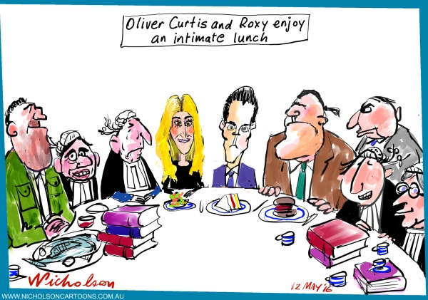 2016-05-12 Oliver and Roxy Curtis intimate lunch Margin Call Australian