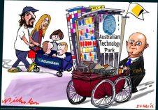 2016-05-24 Mike Cannon-Brookes Ian Narev CBA Australian Technology Park Margin Call Cartoon