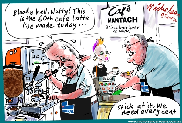 2016-06-09 Nutt Mantach Turnbull Liberal fundraising coffee shop
