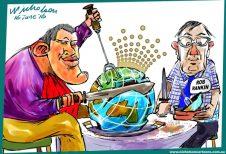 2016-06-16 James Packer Crown carve-up Margin Australian cartoon
