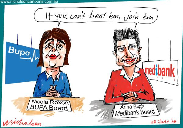 2016-06-28 Bligh Roxon private health care margin call cartoon