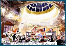 2016-06-30 The Australian Club black-tie boxing night Margin Call