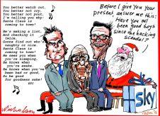 2016-12-13 Sky Murdoch Lachlan Rupert James trying to buy Skynews cartoon Australian Financial Review