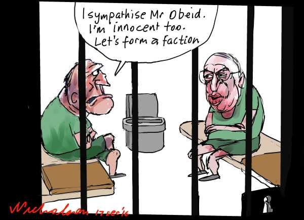2016-12-17 Eddie Obeid sentenced cartoon Australian Financial Review