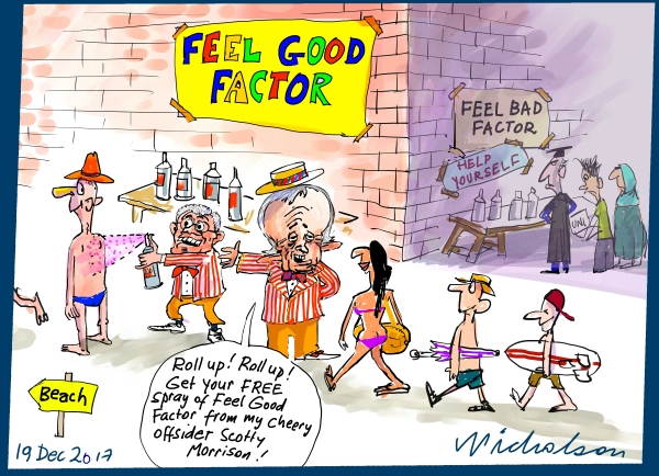 2017-12-19 Feel Good Factor MYEFO Morrison Turnbull cartoon