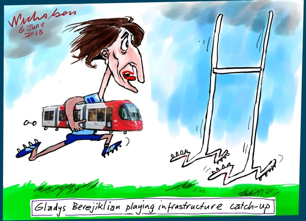 2018-06-06 Gladys Berejiklian infrastructure Sydney light rail moving goal posts Australian Financial Review