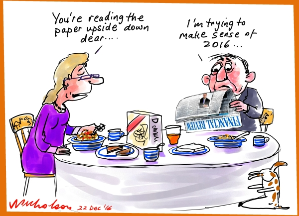2106-12-22 The year upside down cartoon Australian Financial Review